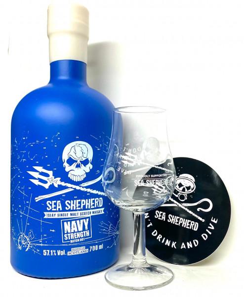 SEA SHEPHERD Navy Strength Batch 1 + Nosingglas
